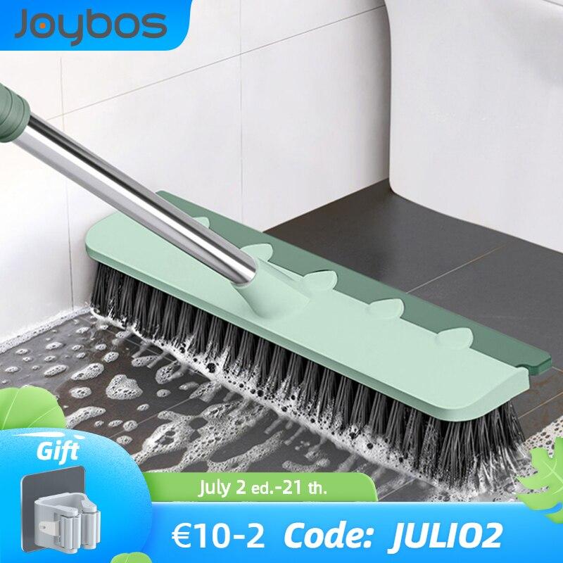 JOYBOS Pool szczotka do szorowania 2 w 1 łazienka wycieraczka sztywna szczecina okno ściągaczka magiczna miotła Mop podłogowy wanna płytki podłoga szczotka do czyszczenia