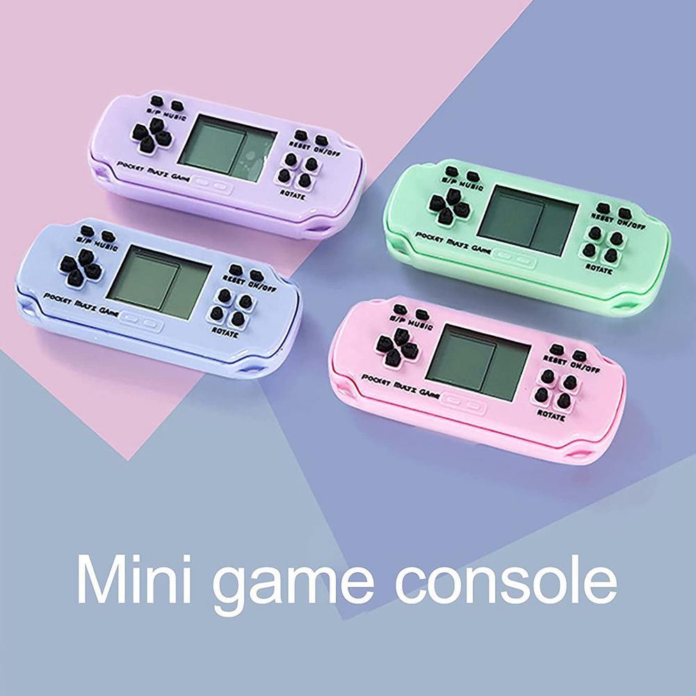 Портативная игровая консоль в стиле ретро, мини-плеер для классических электронных игр, портативная консоль, классические детские электрон...