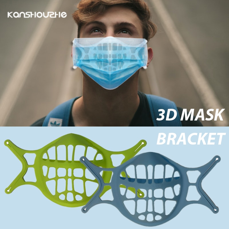 3pcs 3D Mouth Mask Support Breathing Washable Reusable Bracket Mouth and Nose Separation Silicone Ma