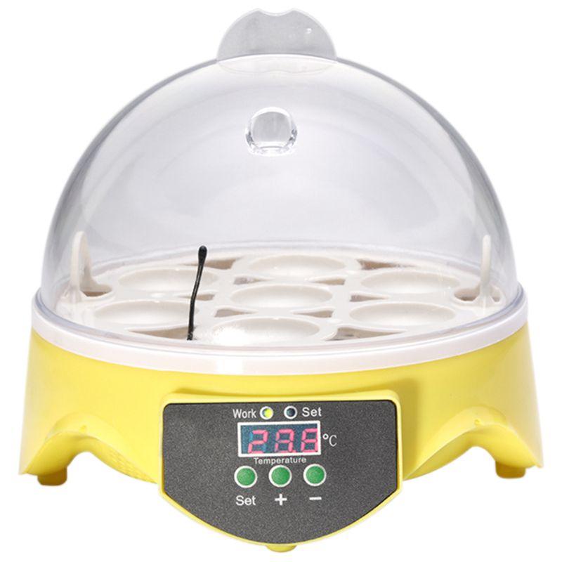 Mini incubadora de 7 huevos, Incubadora de aves de corral, Incubadora Digital de temperatura, Incubadora de huevos, incubadora de pollos, patos, aves y palomas
