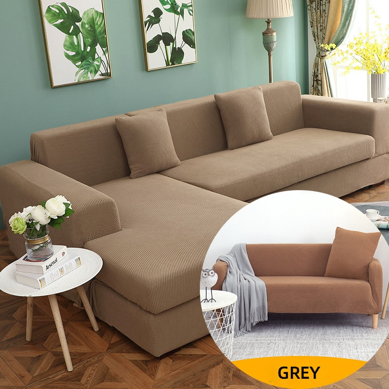 couch cover sofas covers universal stretch elastic couch covers for living room sectional corner l shape sofa cover 18 colors Polar Fleece Stretch Sofa Covers For Living Room Solid Color Elastic L-Shape Corner Sofa Cover Couch Cover funda sofa Elastica