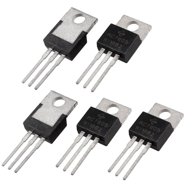 5 шт. 3 клеммы 1.5A 5В L7805CV регуляторы напряжения