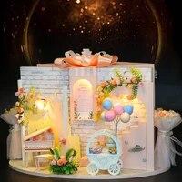 diy small house doll house creative valentines day birthday gift wedding engagement scene bridal shop model