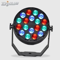 dj rgb led par light 18x3w led decorative stage bar party disco light with wash lighting effects for home wedding concert