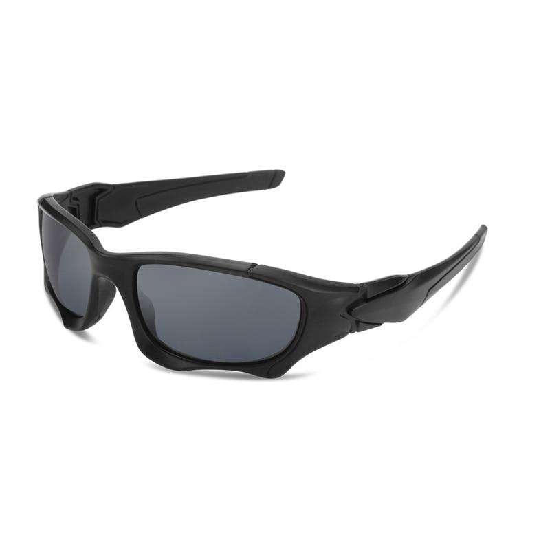 Outdoor Sports Polarized Sunglasses Men Curve Cutting Frame Stress-Resistant Lens Shield Luxury Bran