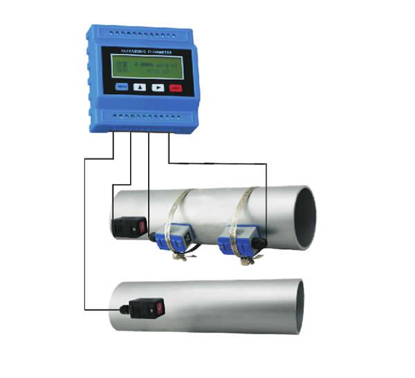 TUF-2000B tuf2000m ultra sonic 2 polegada medidor de fluxo de água ultra sônico medidor de calor
