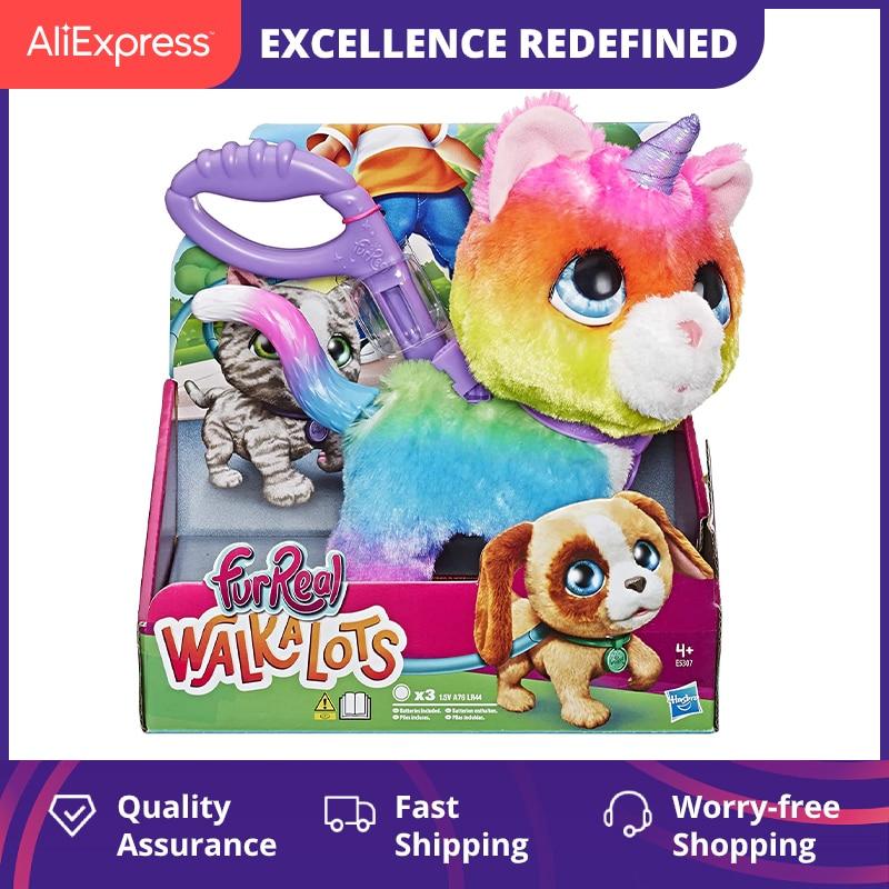 FurReal Friends E5307EU5 FRR WALKALOTS Big Wags Unicorn CAT Rainbow Colors Children's Toys Aimatronics Pet Plush Doll kawaii