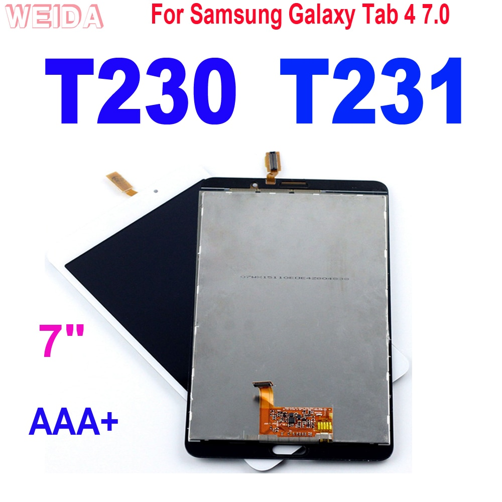 11 0 lcd for samsung galaxy tab s7 t870 lcd display touch screen digitizer assembly for samsung sm t870 t875 t876b lcd screen 7 LCD For Samsung Galaxy Tab 4 7.0 SM-T230 SM-T231 LCD Display Touch Screen DigitizerAssembly for Samsung T230 WIFI /T231 3G