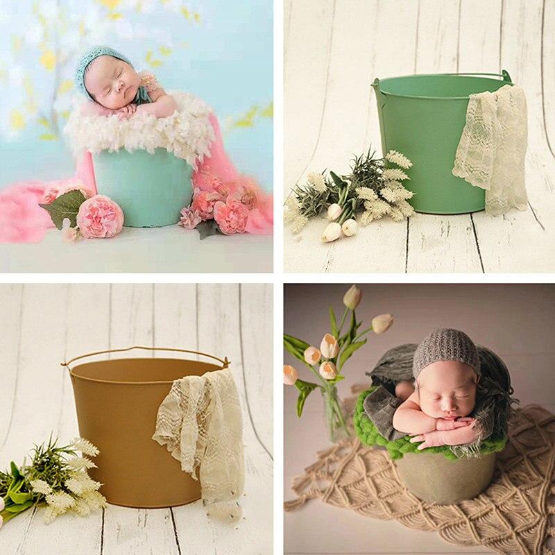 ملحقات استوديو تصوير الأطفال ، دلو ريترو ، ملحقات الصور لحديثي الولادة
