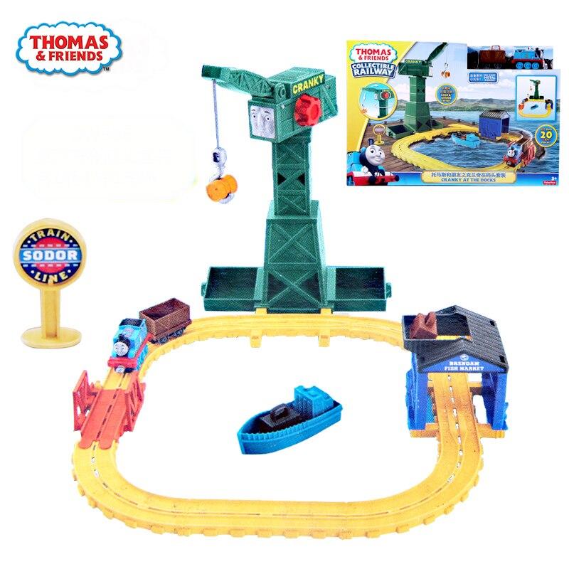 Thomas y amigos originales Blanche en el muelle vía férrea modelo niño regalo modelo tren juguetes para niños camión juguete fundido a presión