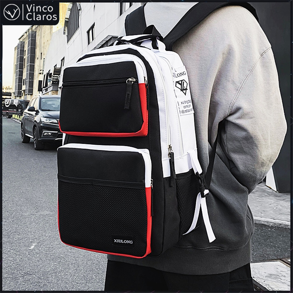 Fashion Large Capacity Men's Backpack Multiple Pockets School Backpack for Teenager Trend Cool Couple Backpacks Unisex Bags 2020