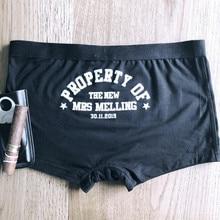 Boxers personalizados de ropa interior para novio, calzoncillos para el novio personalizados, ropa interior para el novio, regalos de padrino de boda
