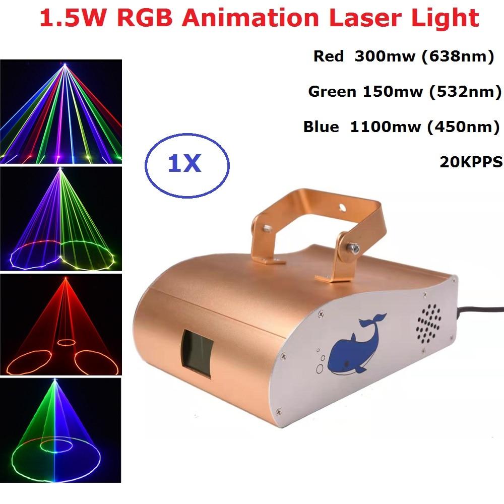 1550mw RGB Laser Projector Professional Stgae Lighting Effect DMX 512 Controller Scanner Dj Equipment Party Light Music Laser