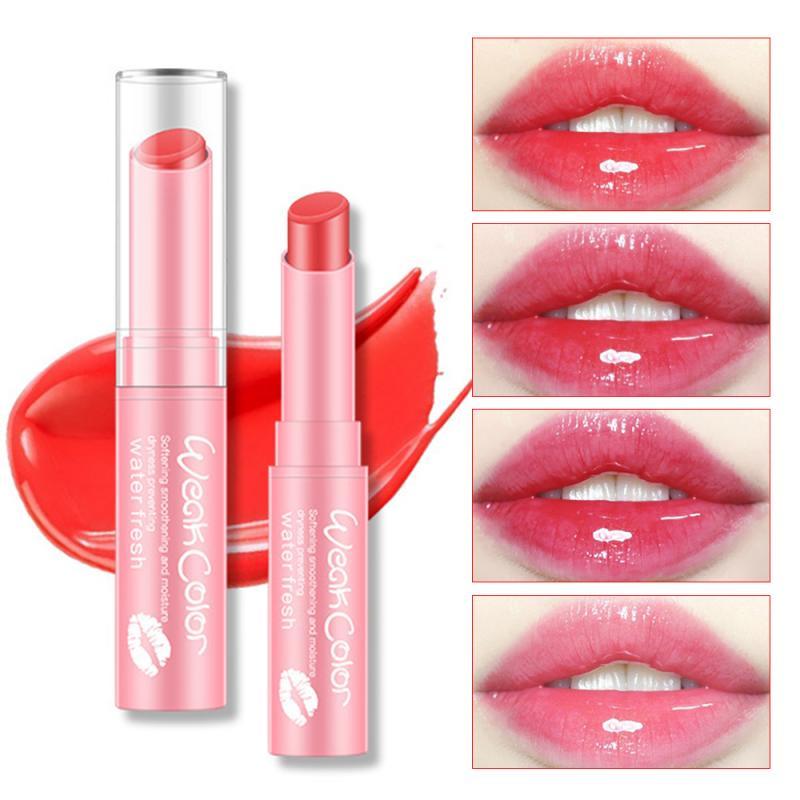 Hidratante hidratante Color claro bálsamo labial Color fruta lápiz labial chica cuidado de labios Reparación de piel Natural productos de belleza TSLM1