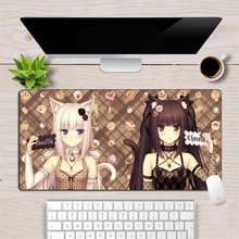 60X30 Cm Anime Mousepad Chocola Nekopara Mooie Meisje Vergrendeling Rand Gaming Mouse Pad Speed Gamer Duurzaam Laptop Notebook bureau Mat