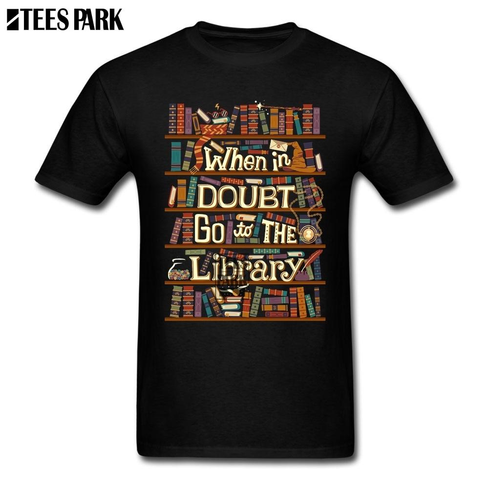 Camiseta de diseño Go To The library Slim Fit, camisetas de manga corta de algodón orgánico para hombre, divertida camiseta Original de Hip Hop para adulto