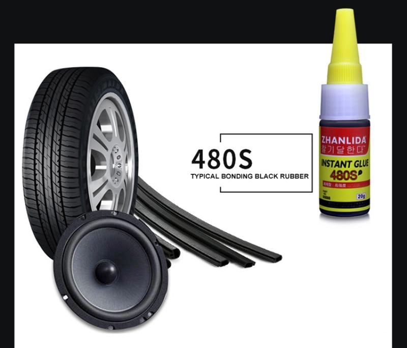 480S Black Glue Car Rubber Repair Tire Glue Window Speaker Seal Tire Repair Glue Mighty Tire Repair Glue Tire Repair Tools TSLM1
