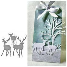 Christmas Elk Cutting Dies Scrapbooking Metal Cutting Pressing Stencils Craft Dies For DIY Decorations Embossing