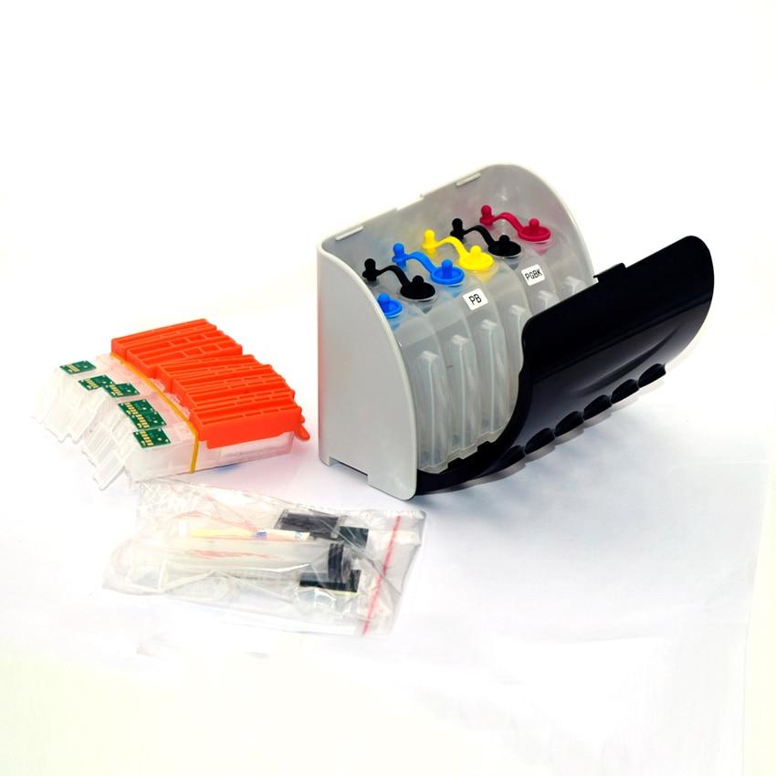 PGI-680 de 6 colores CLI-681 sistema Ciss para impresora Canon PIXMA TS8160 TS9160 con Chip permanente
