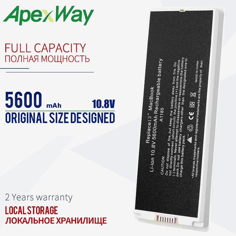 "Branco 5600 mah a1185 a1181 bateria do portátil para apple ma566 ma566fe/a ma566g/a ma566j/a para macbook 13 ""ma472 ma472b/a ma701 mb404x"