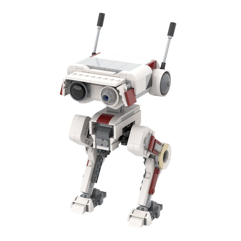 Interstellar Small Particle Building Block Moc Fallen Order Bd-1 Intelligent Robot Diy Assembly Display Toy Model Boy Gift