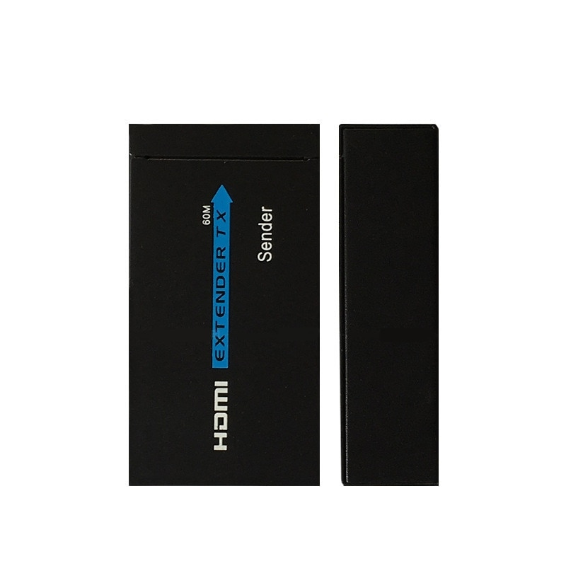 Hot Sale 60M HDMI Extender 1080p 3D HDMI Transmitter Receiver over Cat 5e/6 RJ45 Ethernet Converter US EU Plug enlarge