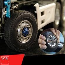 1/14 Tractor Trailer Lock Wheel Hub Aluminum Alloy Unpowered/Powered Wheel Rim for 114 Tamiya Truck Upgrade Accessories