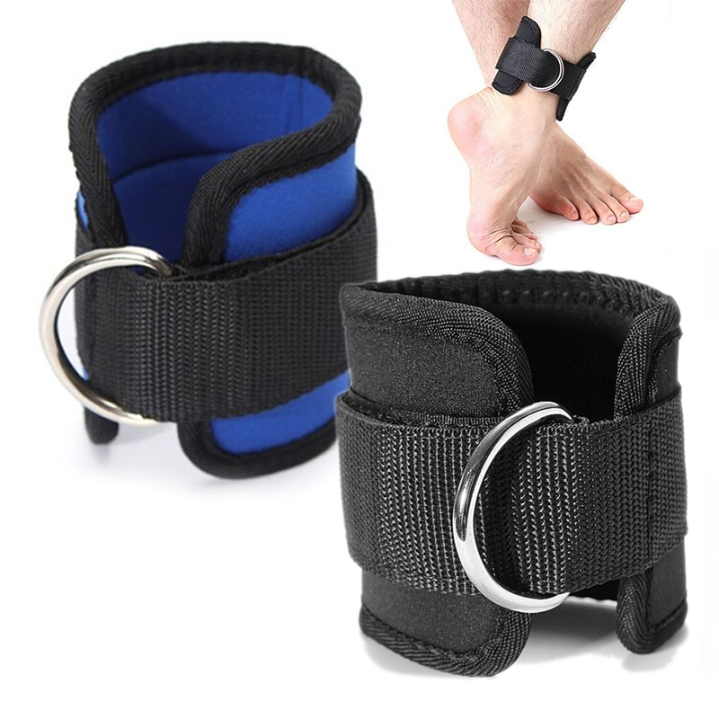 1Pc Fitness Adjustable D-Ring Ankle Straps Foot Support Ankle Protector Gym Leg Pulley with Buckle S