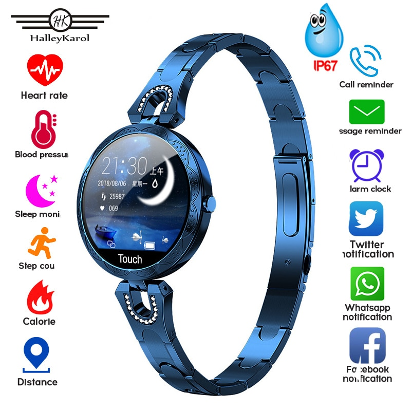 Smart Watch Women Blood Pressure Measurement Electronic Bracelet Heart Rate Monitor Waterproof Ip67 Smartwatch For Android IOS умные часы smart watch colorful 0 96inch tft ip67 waterproof heart rate monitor multisport mode compatibility with ios and android 90mah long li