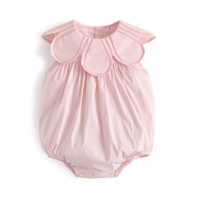 فستان صيفي قطني للأطفال الصغار ، بذلة للأولاد والبنات ، ملابس شقيقة ، فساتين وردية بدون أكمام