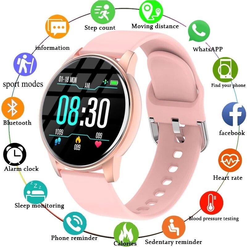 New Smart Watch Women Men watch For Electronics Clock Fitness Tracker Silicone Strap Smart-watch