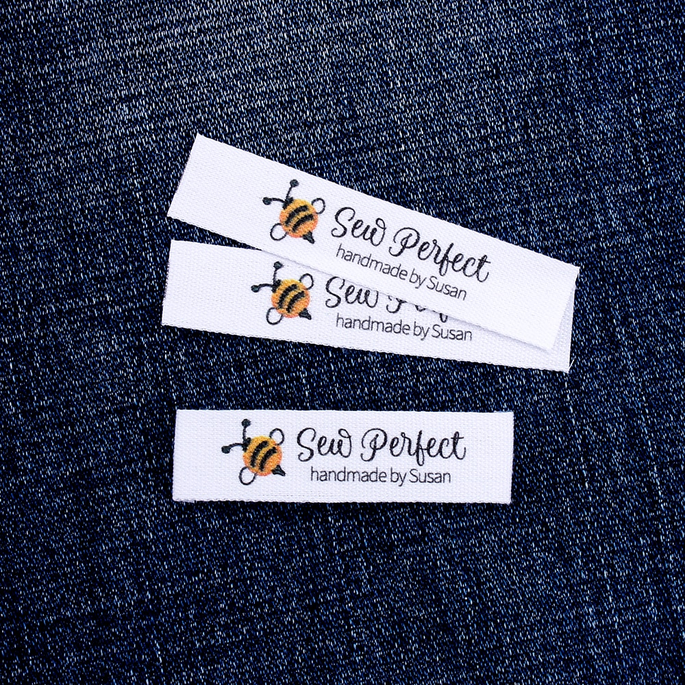 Custom Sewing label,  Logo or Text - Custom Design,  Personalized Brand , Sew on Cotton Fabric, Free shipping  (MD3118)