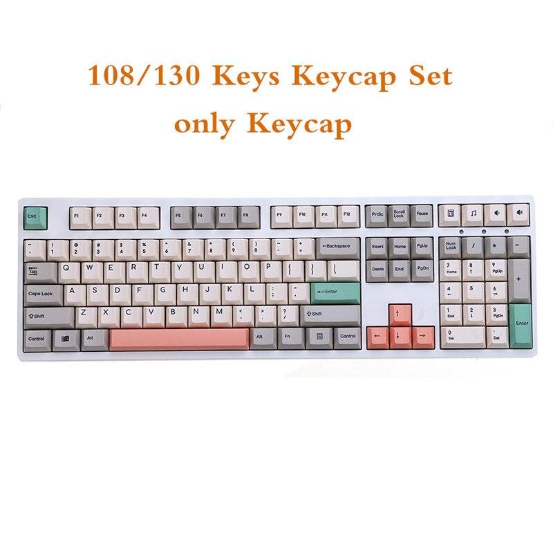 مجموعة من 108/130 مفاتيح للوحة المفاتيح الميكانيكية ، ملف تعريف الكرز ، PBT ، التسامي ، للاعبين ، 980/61/68/84/87/ 96/104/108