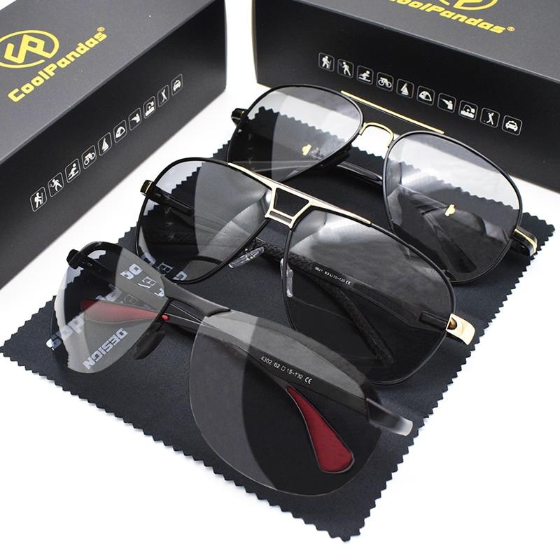 Uds combinado venta CoolPandas clásico Photochormic gafas de sol polarizadas de las...