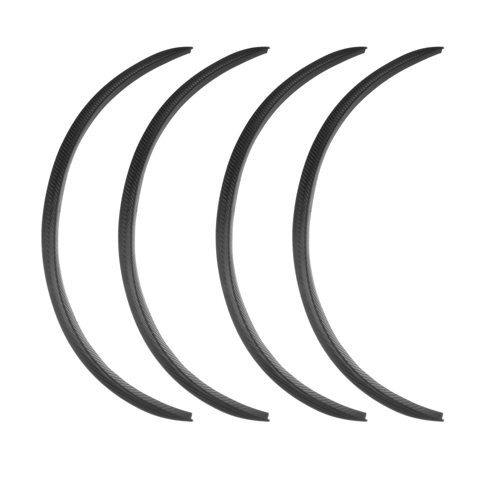 Car Wheel  Universal Auto Arch Guard Flexible Extension Eyebrow Trim Rubber Protector Black