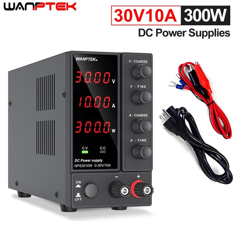 Wanptek تيار مستمر مختبر 60 فولت 5A ينظم مختبر امدادات الطاقة قابل للتعديل 30 فولت 10A ضابط منظم الجهد تحويل التيار الكهربائي