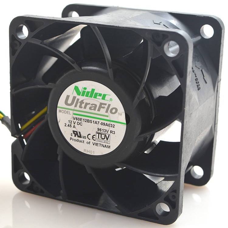 Para NIEDC V60E12BS1A7-09A032 12V 2.45A 6CM 6038 ventilador de refrigeración de alta velocidad