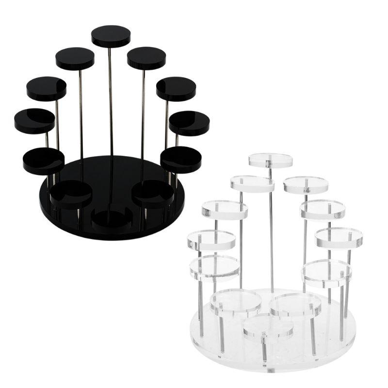 Anel acrílico exibir suporte brincos mostrar suporte jóias contador vitrine adereços titular bandeja