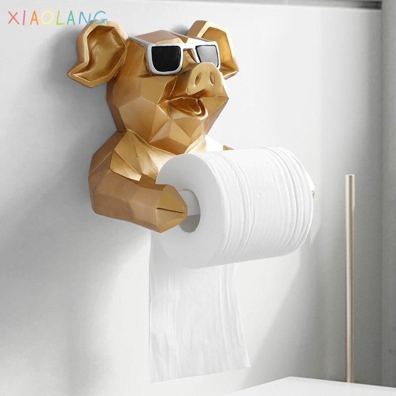 الحيوان الأنسجة صندوق تمثال تمثال ورق تعليق حامل المرحاض الحمام ديكور حوائط المنزل لفة صندوق المناديل الورقية حامل جدار جبل