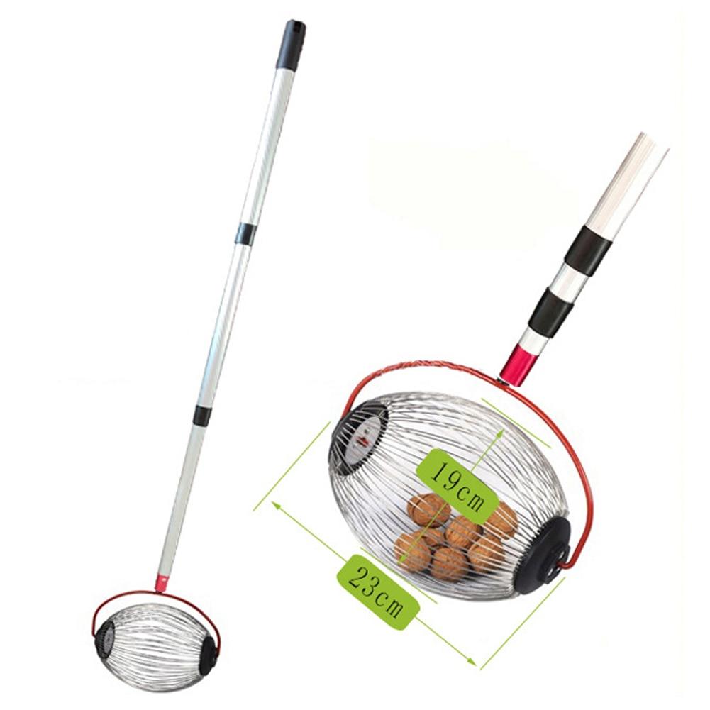 1 Uds., castañas, cosechadora, cosechadora de tuercas enrollables, Bola de aleación de aluminio, herramienta para huerto familiar