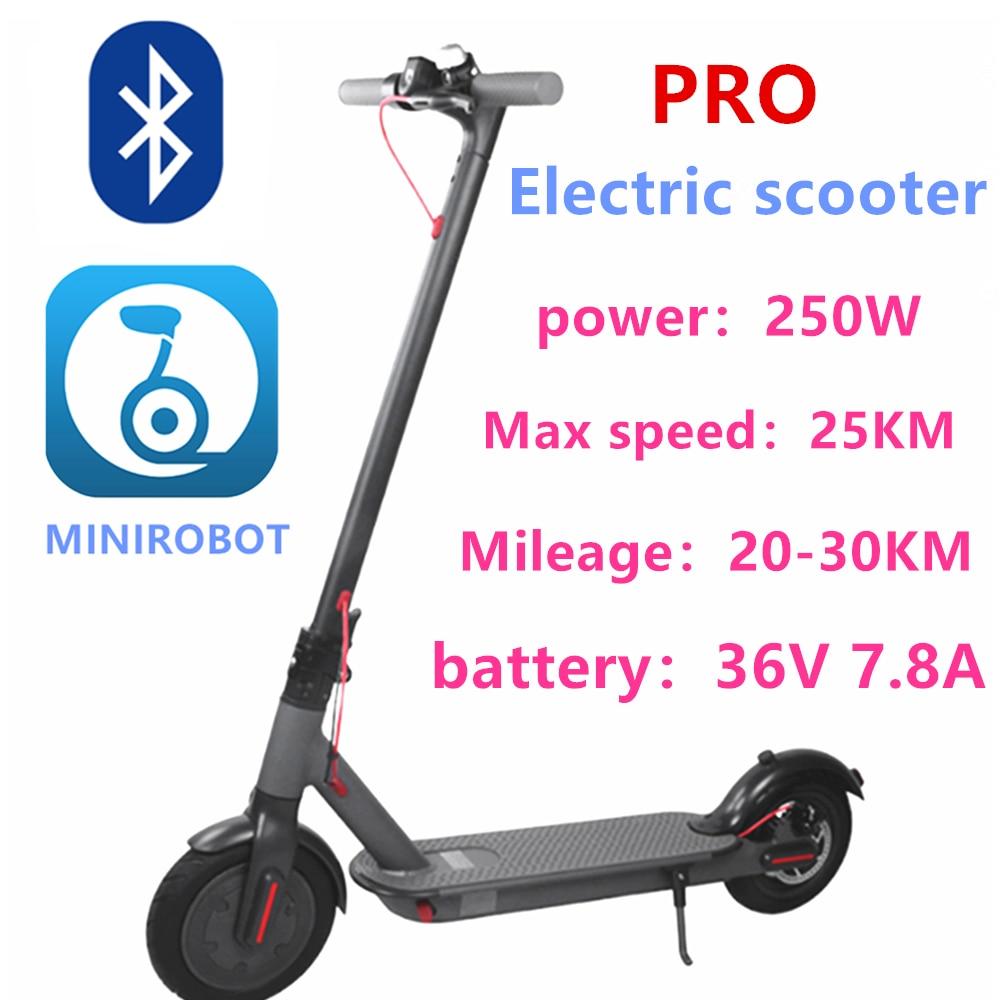M365 pro 7.8ah 30km alcance scooter elétrico inteligente app bloqueio de scooter display lcd a cores poderoso 250w scooter m365 pro scooter