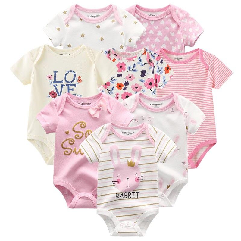 8 шт./лот; Детские комбинезоны с короткими рукавами; Комбинезоны из 100% хлопка; Одежда для новорожденных; Roupas de bebe; Комбинезон и одежда для мальчиков и девочек|Ромперы| | АлиЭкспресс