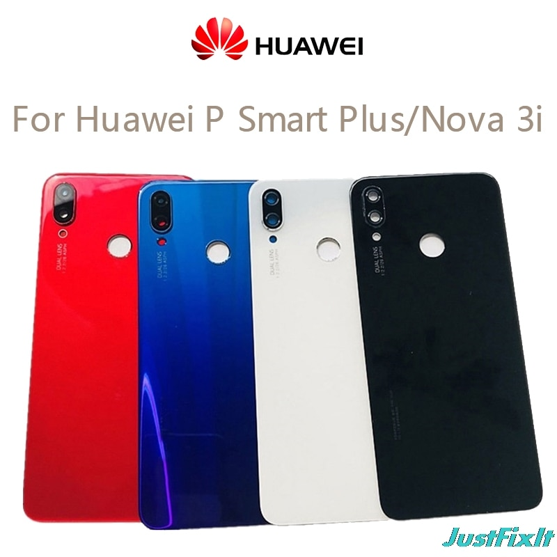Original para Huawei Nova 3i cubierta trasera de cristal de la batería de la puerta trasera de la carcasa del Panel para la cubierta trasera de cristal de Huawei Nova 3i