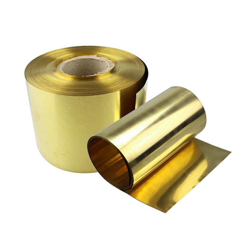 Латунная металлическая тонкая листовая фольга