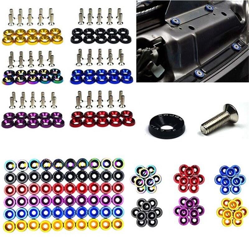 M6 JDM Car Fasteners Fender Engine Screws License Bolts for Peugeot 206 307 406 407 207 208 308 508 2008 3008 4008