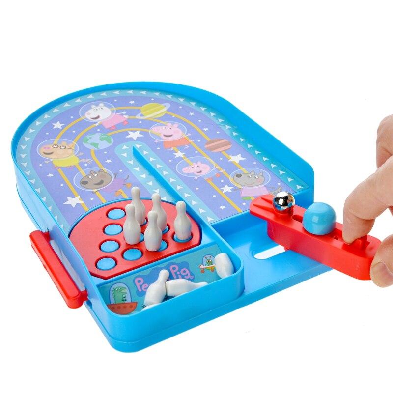 Genuine peppa pig mini jogo de boliche crianças adulto festa diversão mini jogo de boliche