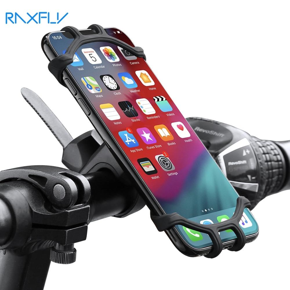 RAXFLY Bike Phone Holder Bicycle Mobile Cellphone Holder Motorcycle Suporte Celular For iPhone Samsu