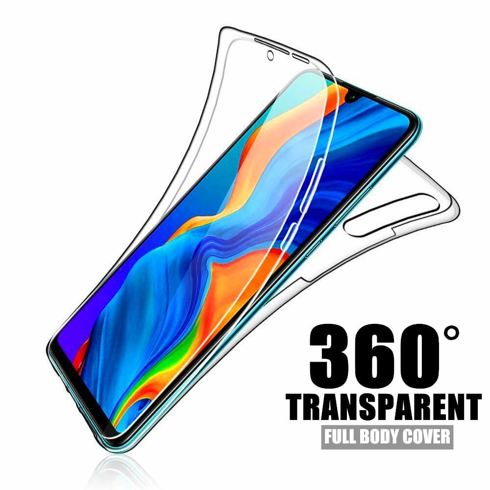 Case protetora de silicone macio para huawei, case protetor duplo, transparente, para huawei p40, lite, p30, p20, pro, p10, p8, lite, 360, y5, y6, 2017 y7 pro y9 capa inteligente 2019 p