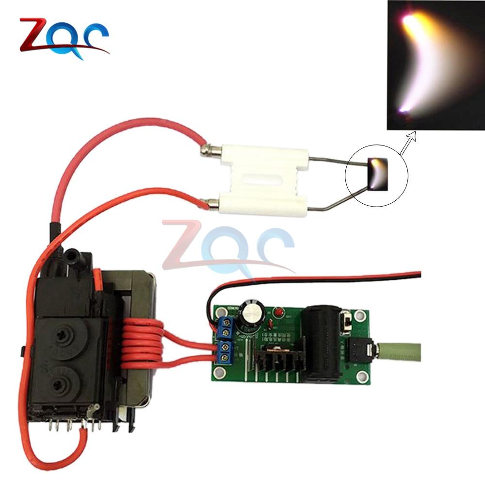 ZVS Tesla Coil Booster Driver Board 20KV High Voltage Generator Plasma Music Arc Speaker Kits +Ignition Coil+Spray Point DIY Kit