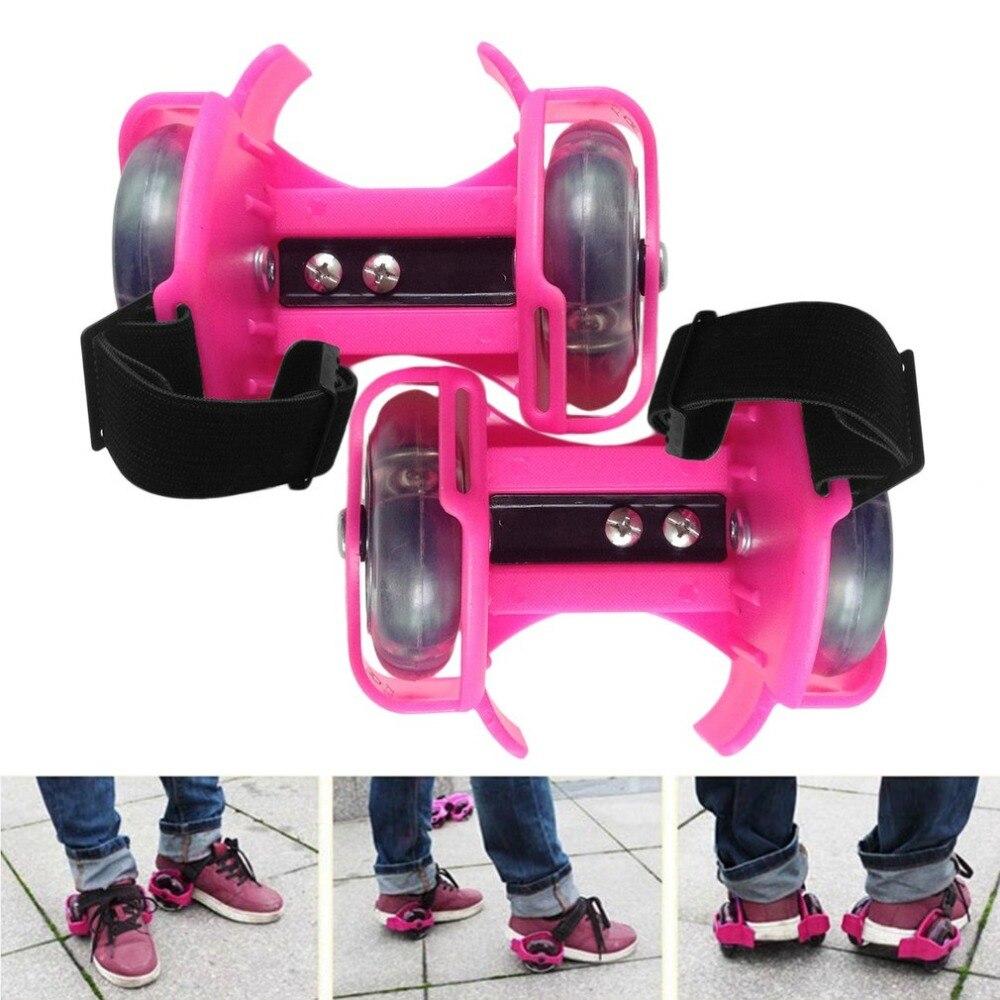 3 colores, rodillos intermitentes coloridos, ruedas de Flash con polea Whirlwind, patines ajustables, patines simples, zapatos de patinaje para niños y adultos